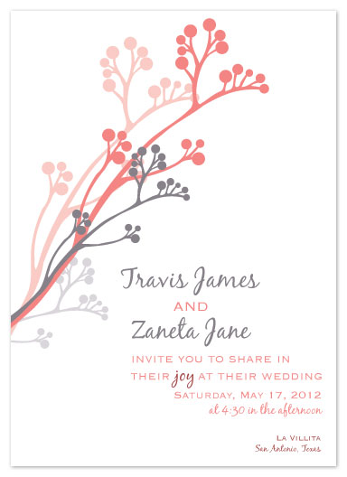 wedding invitations - Blossoming Joy by Bloom Art and Design