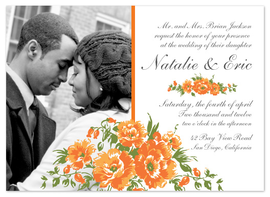 wedding invitations - Orange bouquet by Janelle Otsuki