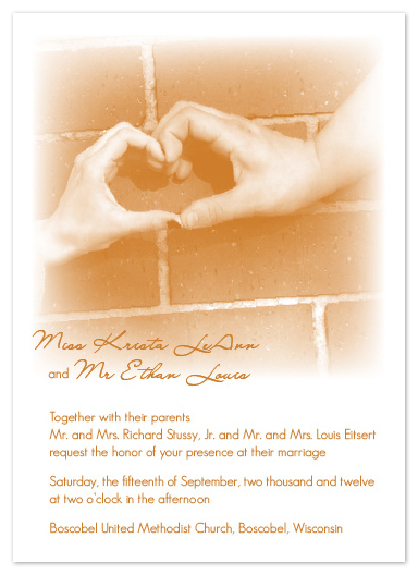 wedding invitations - Joined Hearts by Krista Eitsert