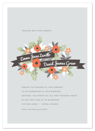 wedding invitations - Floraline by Olivia Raufman