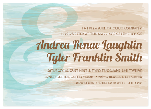 wedding invitations - Watercolor Beaches by Chelsea Marsh