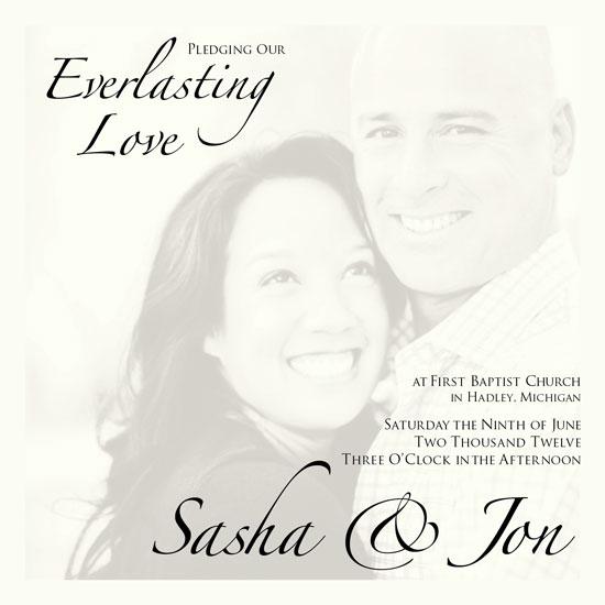 wedding invitations - Everlasting Love by Debra Borrmann