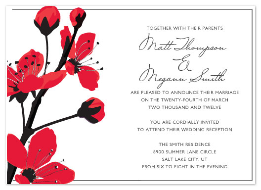 Wedding invitations japanese blossoms at minted wedding invitations japanese blossoms by eastwind creations stopboris