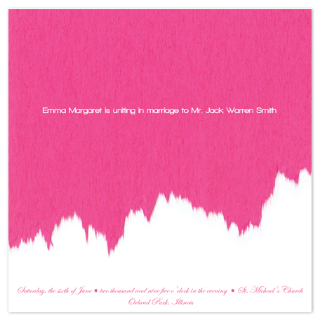 wedding invitations - Pink Exotic COUTURE by Jessica Termini