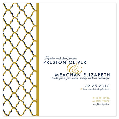 wedding invitations - Midnight Is Golden by Bloom Art and Design