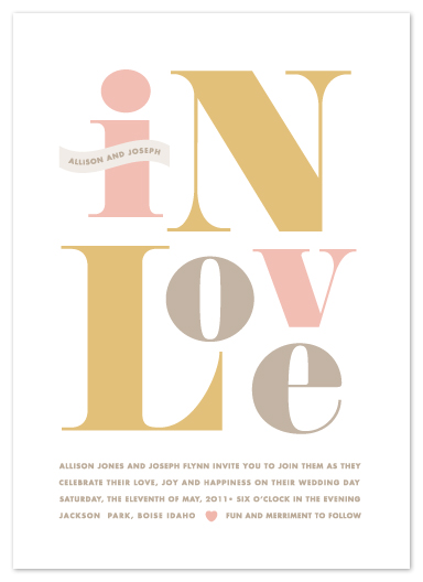wedding invitations - Found Type by kelli hall