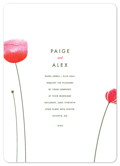 wedding invitations - Poppy and Paint Redux by kelli hall