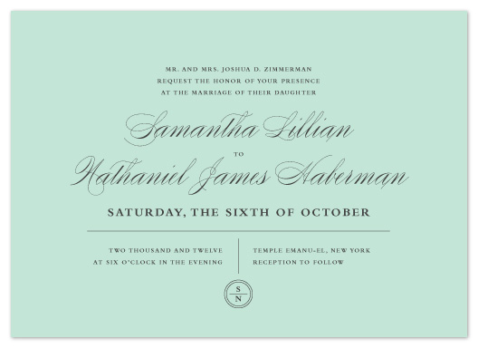 wedding invitations - Notable by Olivia Raufman