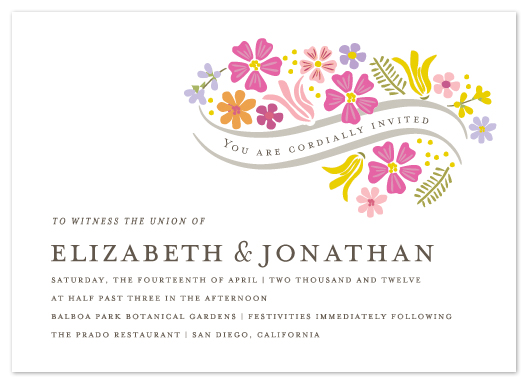 wedding invitations - Floral Vows by Griffinbell Paper Co.