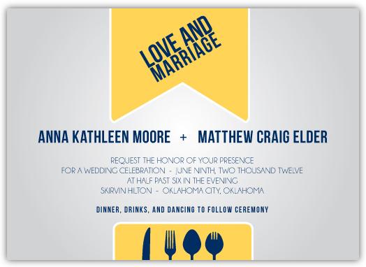 wedding invitations - Ribbon Wrap by Anna Elder
