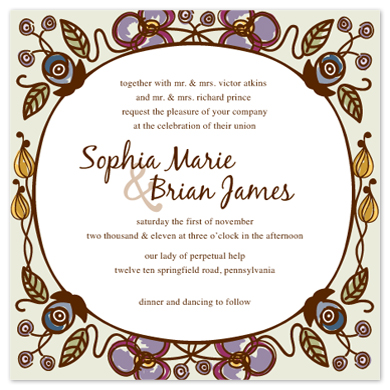 wedding invitations - Lovely Lilac by Bridget Collins