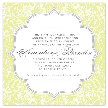 wedding invitations - Floral Lace by Eastwind Creations