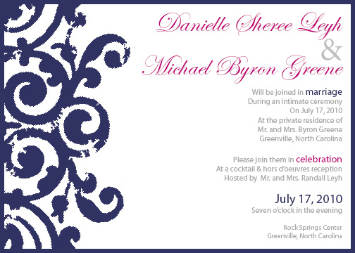 wedding invitations - Not Your Navy by d greene