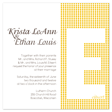 wedding invitations - Modern Monogram by Krista Eitsert