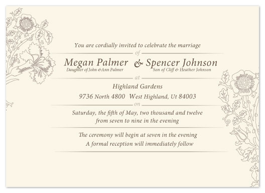 wedding invitations - Wild Flowers by Eastwind Creations