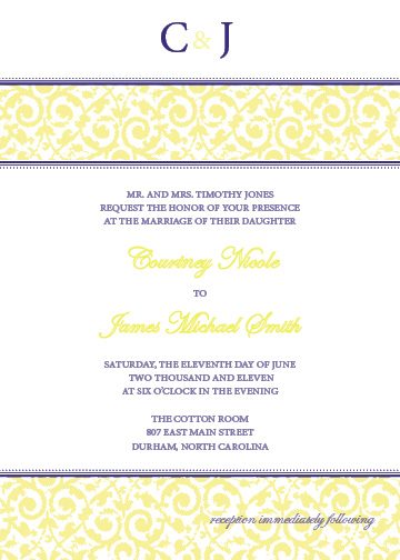 wedding invitations - Initial Band by d greene