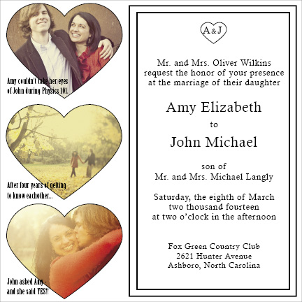 wedding invitations - Our Love by d greene