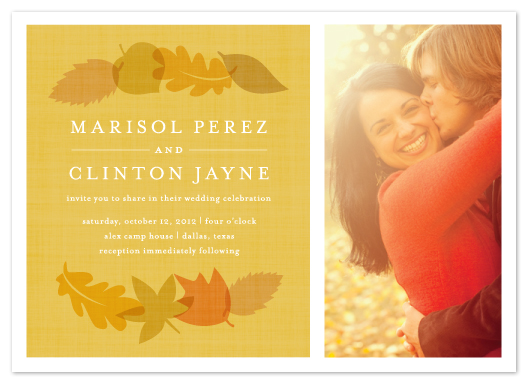 wedding invitations - autumn daze by Susan Asbill