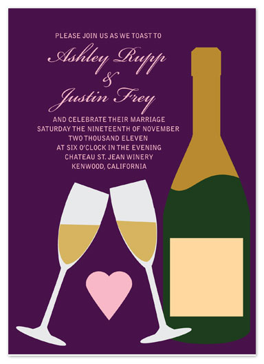 wedding invitations - A Wedding Toast  by Samantha