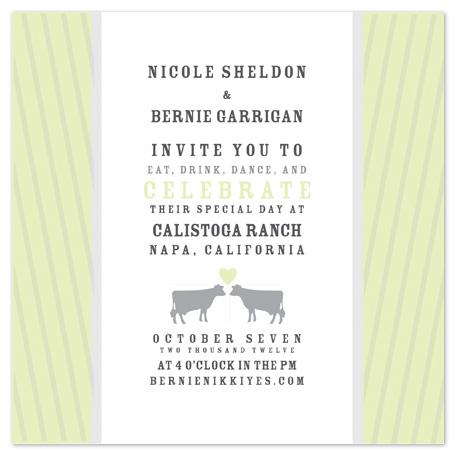 wedding invitations - California Ranch Wedding Invite by Potluck Design