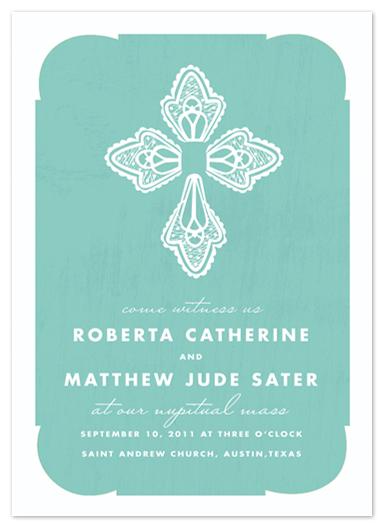 wedding invitations - Blessed Lace by Yolanda Mariak Chendak