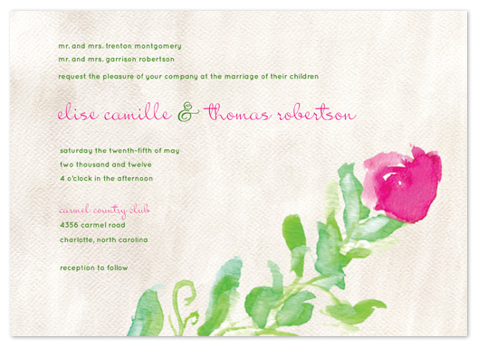 wedding invitations - Elegant Rosebud by tracey atkinson