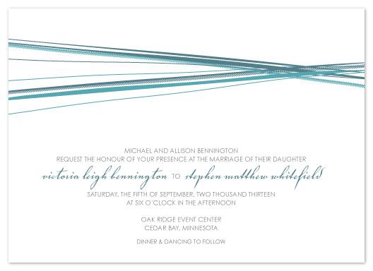 wedding invitations - Simple Harmony by AJCreative