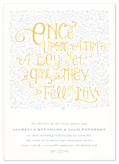 wedding invitations - Once Upon by Erin Pescetto