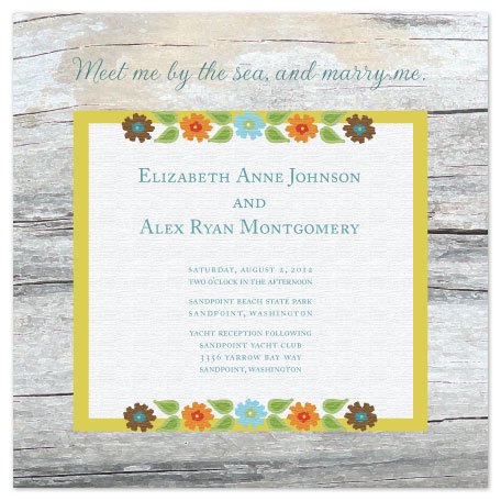 wedding invitations - Beachwood by Jenn Johnson