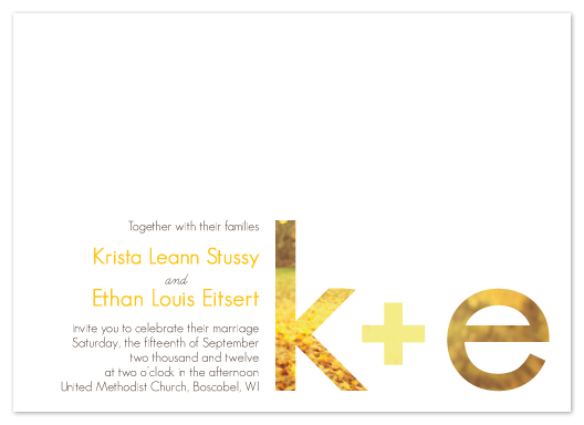 wedding invitations - Simple Elegance by Krista Eitsert