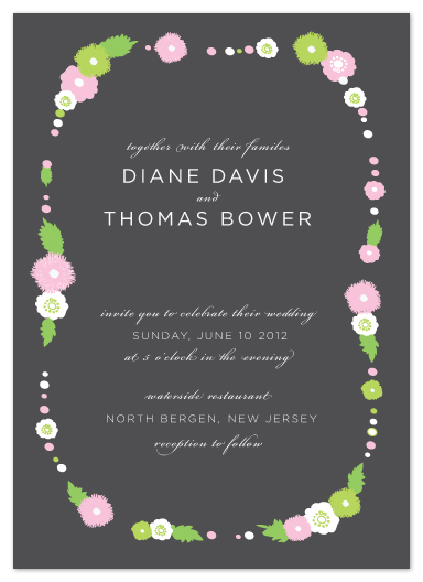 wedding invitations - frame of flowers by Heather Ben-Zvi