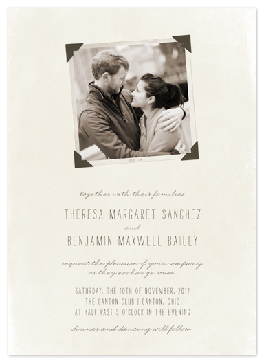 wedding invitations - Moment in Time by The Social Type