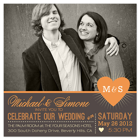 wedding invitations - You and I by BeachPaperCo