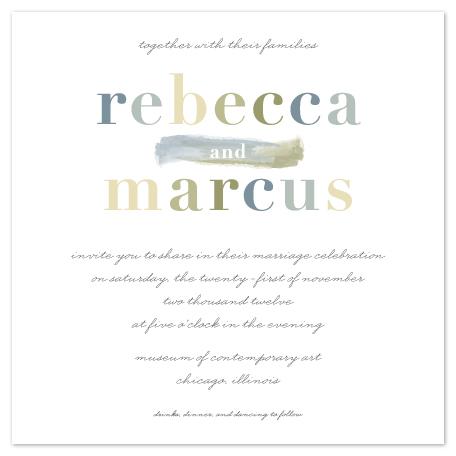 wedding invitations - Bold Names by Lehan Veenker