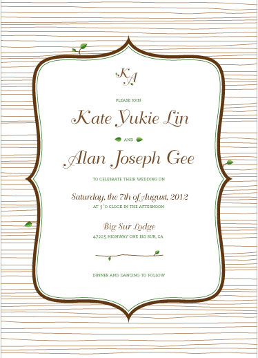 wedding invitations - Sophisticated Nature by Corinne Wong
