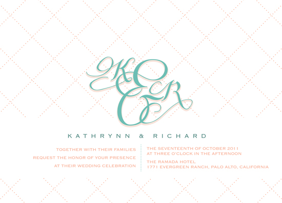wedding invitations - Cross My Heart by carrie luu
