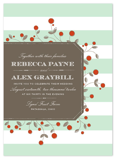 wedding invitations - Antique Orchard by Cheer Up Press