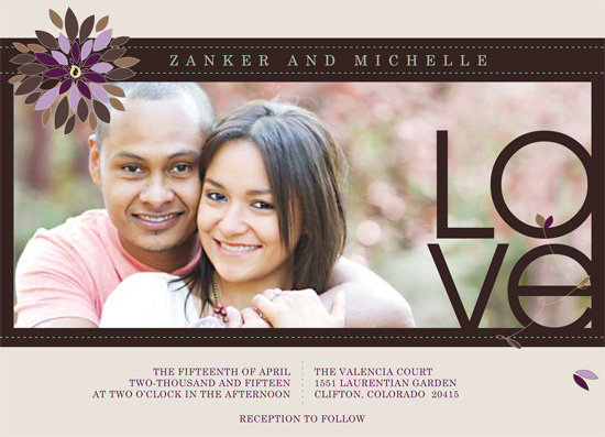 wedding invitations - Flowers of Love by carrie luu