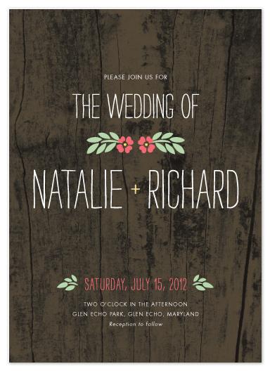 wedding invitations - In the Park by Amanda Larsen Design