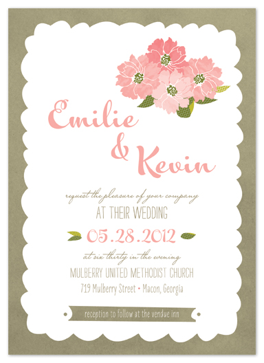 wedding invitations - mulberry street by Carrie Eckert