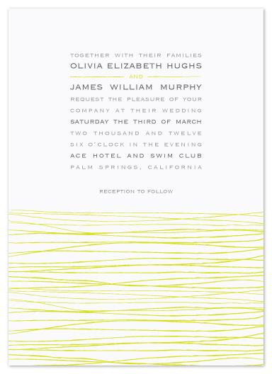 wedding invitations - blades by Waldo Press