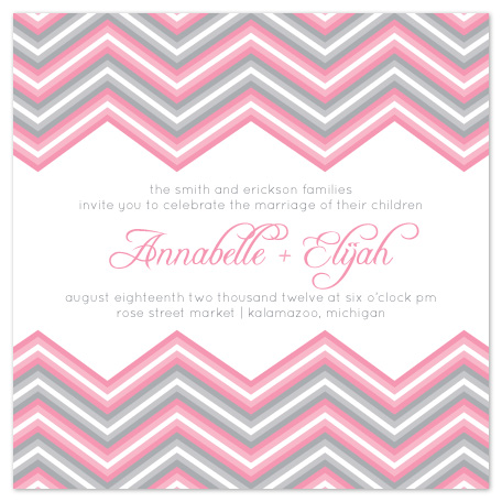 wedding invitations - Chevron Romance by Emily Ford