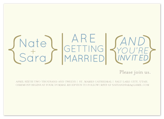 wedding invitations - Marriage Equation by Eastwind Creations