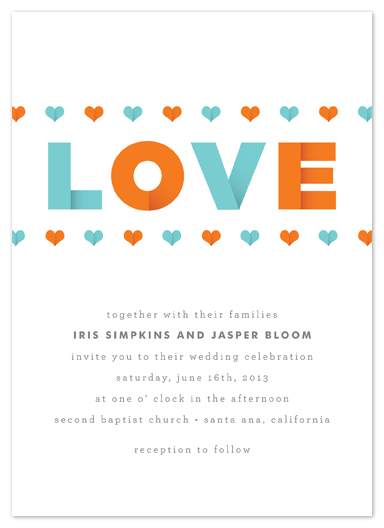 wedding invitations - modern love by Waui Design