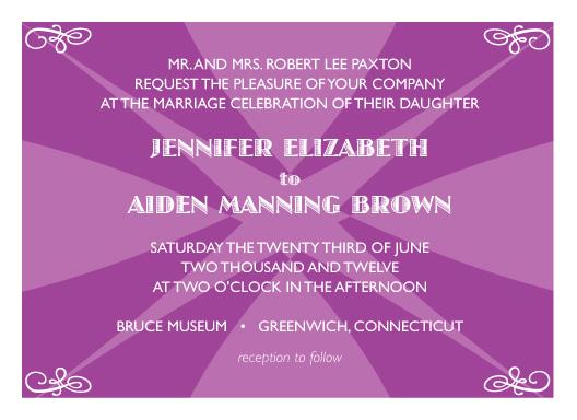 wedding invitations - Bold Pop by Elisabeth Lein