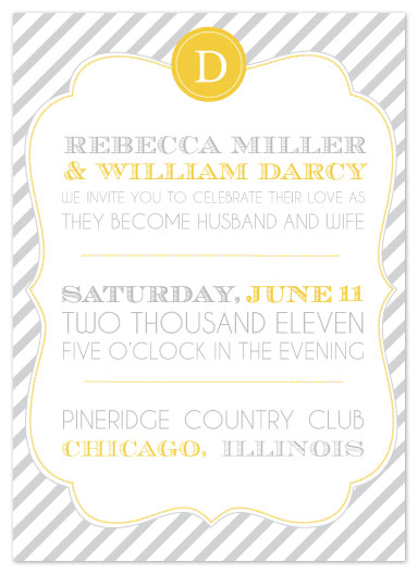 wedding invitations - Circus Stripe by Courtney Michelle Designs