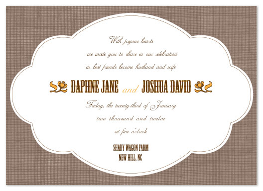 wedding invitations - Country Chic by Bloom Art and Design