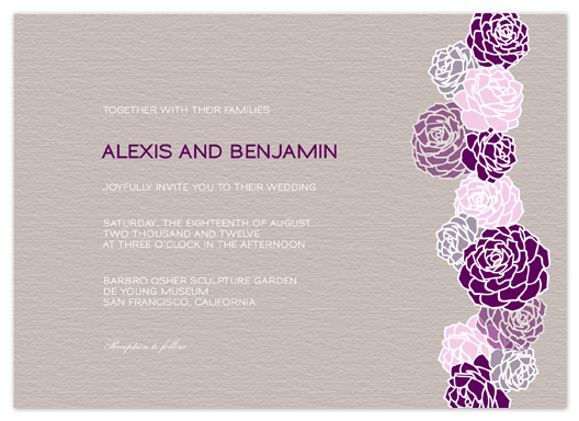 wedding invitations - Blossom by Phoebe Wong-Oliveros