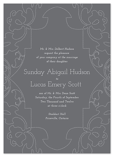 wedding invitations - Pierced Pattern by Stacey Hill