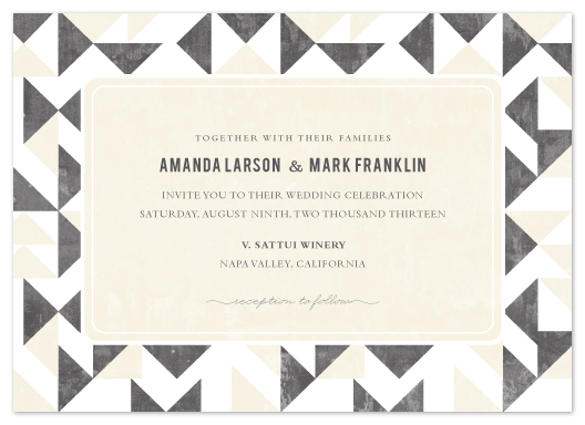 wedding invitations - Triangle Flirtation by SimpleTe Design